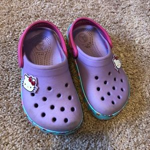 Toddler girl's Crocs
